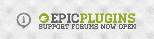 EPICPLUGINS support forums NOW OPEN
