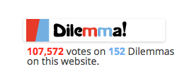 Show a sidebar widget about how many dilemmas your site has (and how many votes)